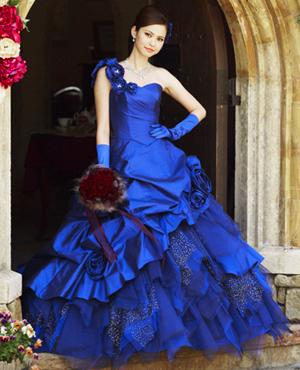 Royal Blue Bridal Gown - Wedding Dress Fantasy