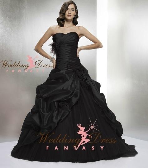 930a996f98fa Black Wedding Dress made with luxury Taffeta.