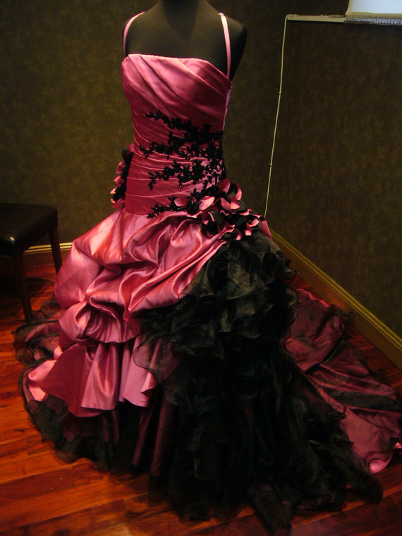 Hot Pink Wedding Dress